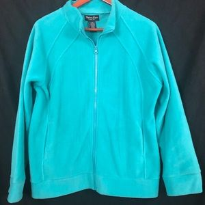 Stephanie Rogers| Teal Fleece Jacket